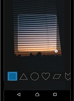 Инстаграм выбрать круглую форму для фотографии
