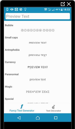 Пример работы Cool Font для Инстаграма