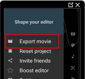 Экспорт видео в Инстаграм